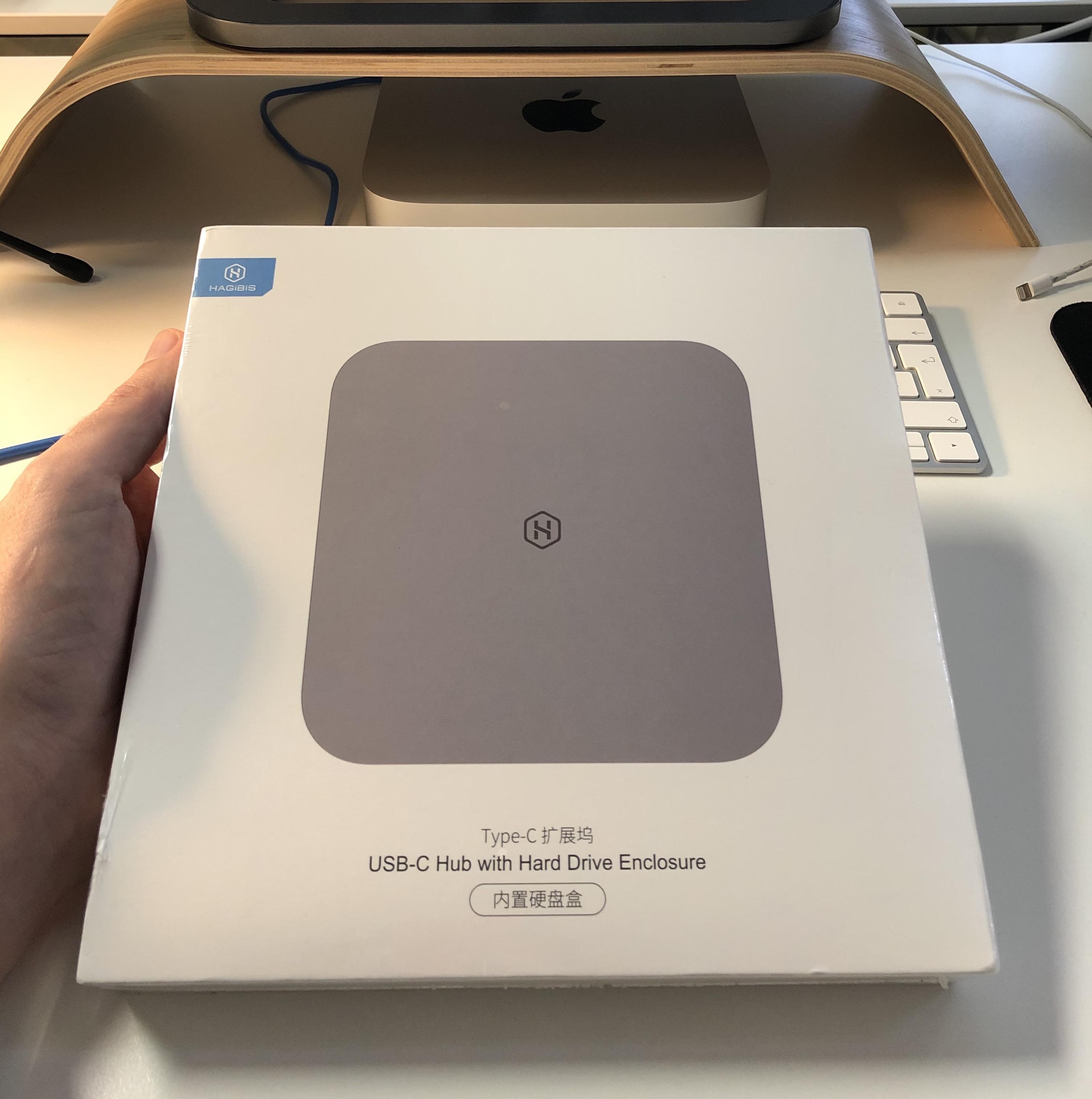 USB-C Dock pro Mac mini M1 s možností připojit HDD/SDD disk